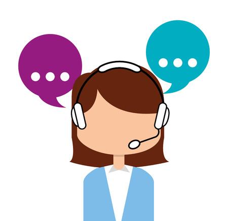 customer: customer service design Illustration