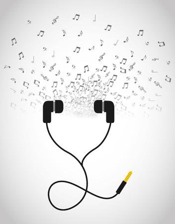 headphone icon design Illustration