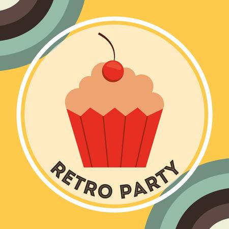retro grunge: retro party design