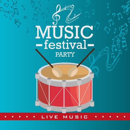 tracks live: Music festival design Illustration