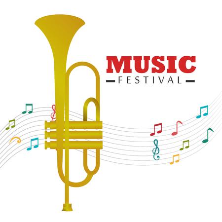 pentagramma musicale: Design Festival di musica.