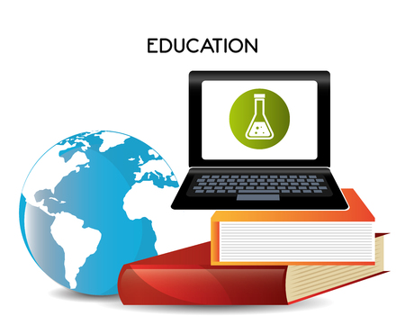 world class: Electronic Education or e-learning theme, vector illustration Illustration