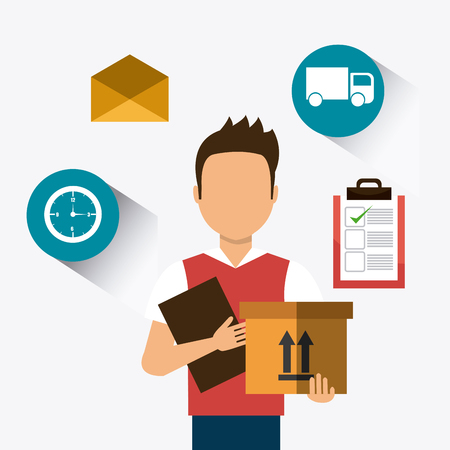 operations: Delivery and logistics business operations, vector illustration