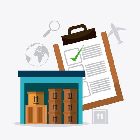 operations: Les op�rations de livraison et de logistique affaires, illustration vectorielle Illustration