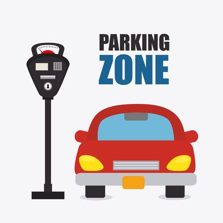 Parking zone graphic, vector illustration  向量圖像