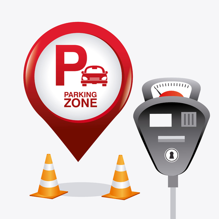 Parking zone graphic, vector illustration