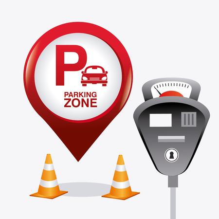 Zone graphique Parking, illustration vectorielle Banque d'images - 44819876