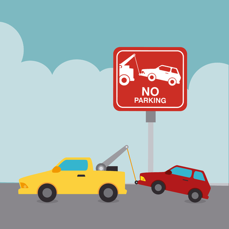 graphic: Parking zone graphic, vector illustration