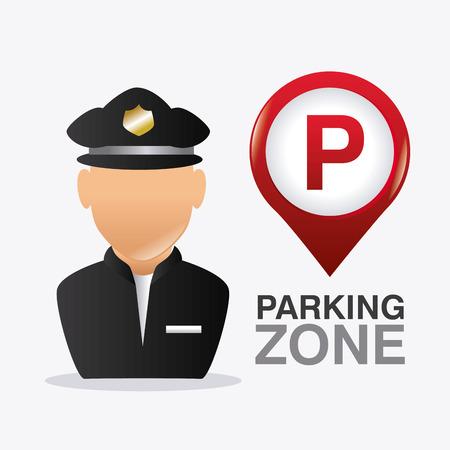 graphic: Parking zone graphic, vector illustration  Illustration