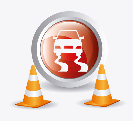 in the zone: Parking zone graphic, vector illustration