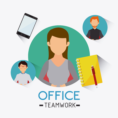 Business office and human resources, vector illustration