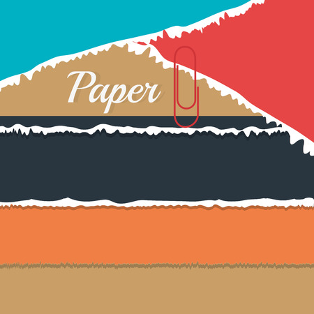 paper notes: Paper, notes and sheets, vector illustration