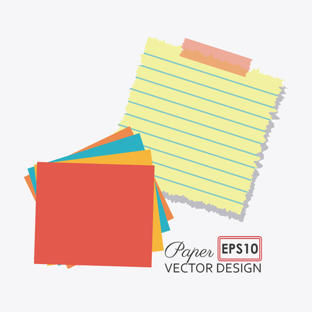 paper notes: Paper, notes and sheets, vector illustration  Illustration