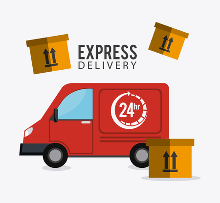 article marketing: Delivery, transport and logistics business, vector illustration