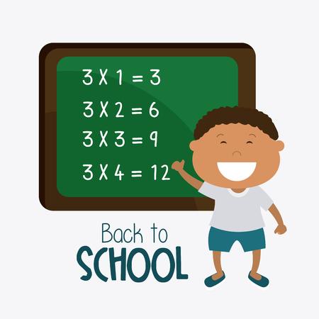 math cartoon: Back to school design, vector illustration eps 10.