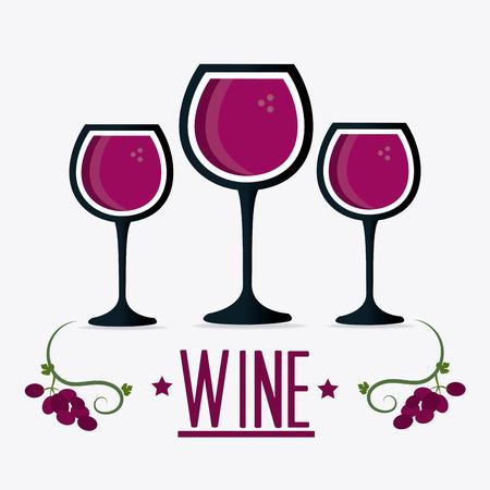 copa de vino: Vino diseño de la tienda, ilustración vectorial eps 10.