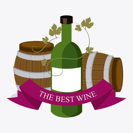 nutriments: Wine shop design, vector illustration eps 10.