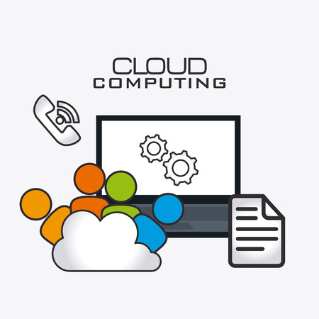 information systems: Cloud computing design, vector illustration eps 10.