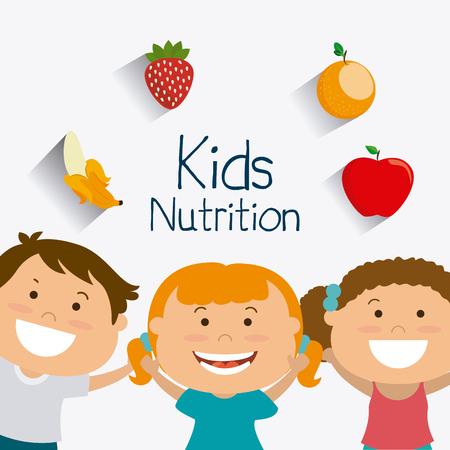 nutricion: Ni�os dise�o nutrici�n, ilustraci�n vectorial eps 10. Vectores