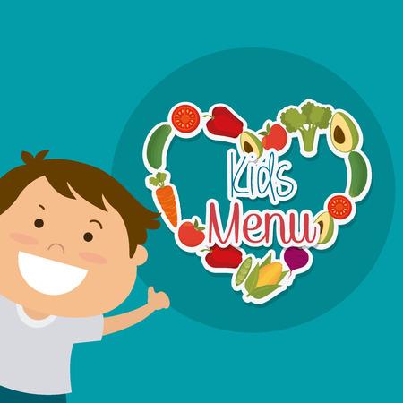 nutricion: Niños diseño nutrición, ilustración vectorial eps 10. Vectores