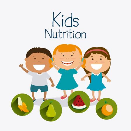 juniors: Kids nutrition design, vector illustration eps 10. Illustration
