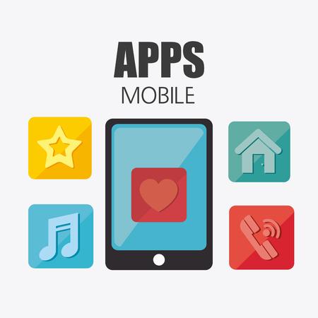mobile app: Mobile app design, vector illustration eps 10.