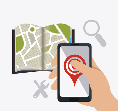 Mobile app design, vector illustration eps 10.