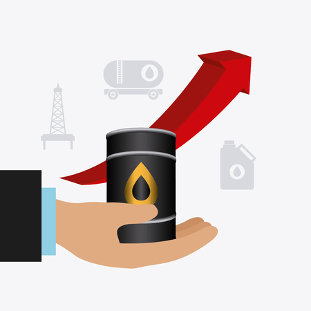 price development: Oil industry design, vector illustration eps 10. Illustration