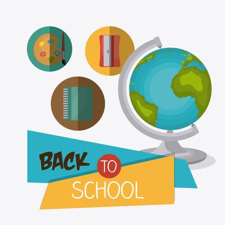 world class: Back to school design, vector illustration eps10. Illustration