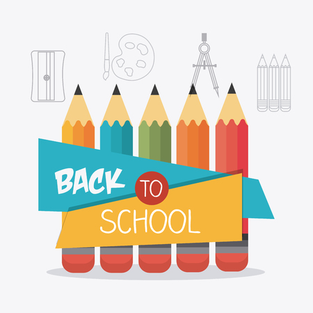 silouette: Back to school design, vector illustration eps10. Illustration