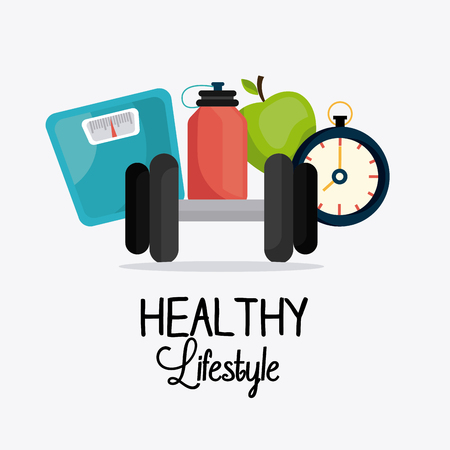Healthy lifestyle design, vector illustration eps 10.