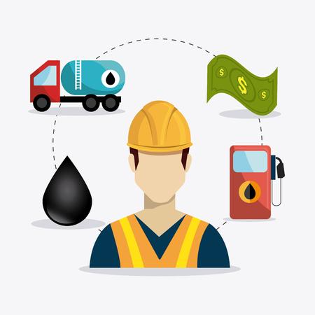 Petróleo diseño industrial, ilustración vectorial eps 10.