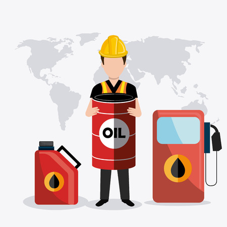 industrial worker: Petroleum industry design, vector illustration eps 10. Illustration
