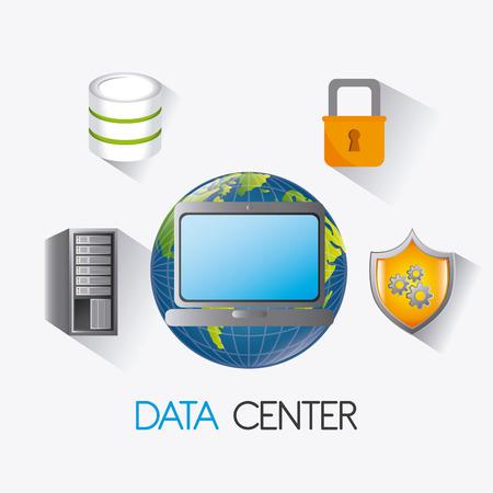 database concept: Database center design, vector illustration eps 10.