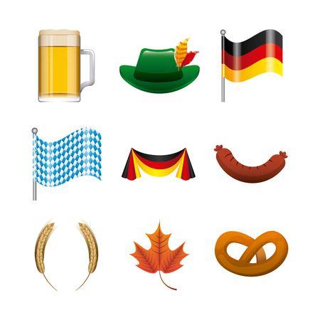 patric icon: welcome oktoberfest design, vector illustration eps10 graphic Stock Photo