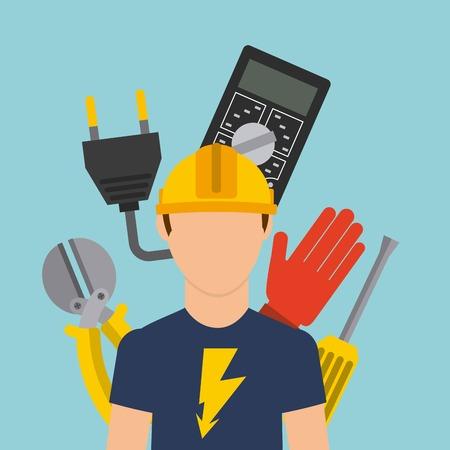 電気技師のコンセプト デザイン、ベクトル図 eps10 グラフィック  イラスト・ベクター素材