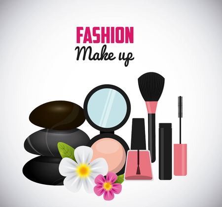 mirrow: fashion make up design, vector illustration eps10 graphic Illustration