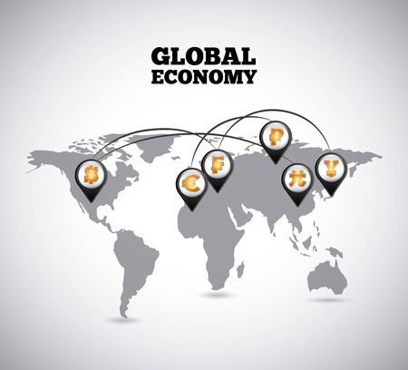 currency symbol: global economy design, vector illustration eps10 graphic Illustration
