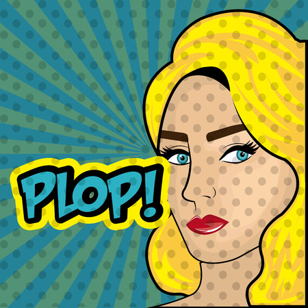 funny pictures: Womens in pop art cartoons graphics, vector illustration eps 10