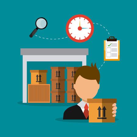 delivering: Delivery,transport and logistics business, vector illustration Illustration