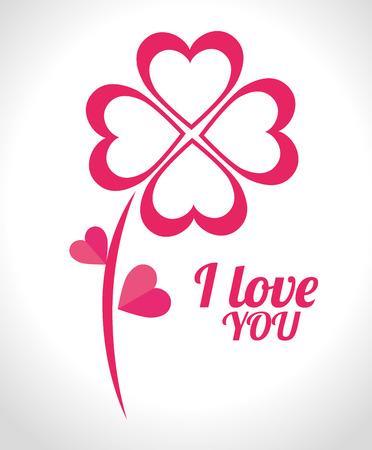 matrimonio feliz: Tarjeta del amor con los corazones y los detalles de diseño de color rosa, ilustración vectorial eps 10. Vectores