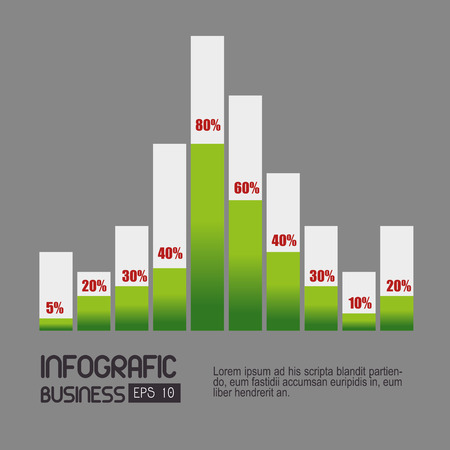 profits: Business Growth and profits, vector illustration eps 10
