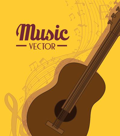 pentagramma musicale: Musica strumento acustico, illustrazione vettoriale eps 10