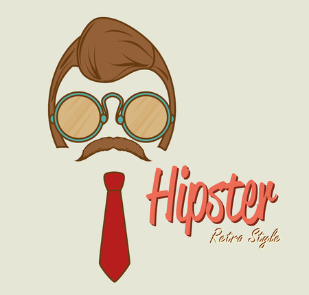 mister: Hipster fashion and lifestyle, vector illustration eps 10 Illustration