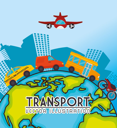 edifice: Transport and vehicles graphic design, vector illustration