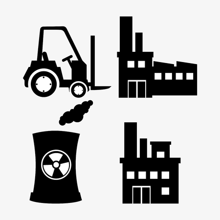distillery: Factory and industry plant equipment design, vector illustration eps 10.