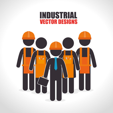 factory workers: Factory and industry plant equipment design, vector illustration eps 10.