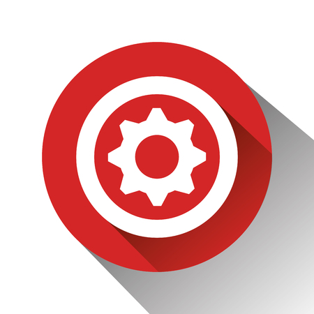 gearing: wheel graphic design over white background, vector illustration