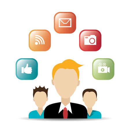 s video: Social media entertainment graphic design, vector illustration