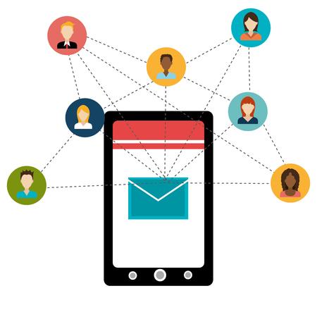socialising: Entretenimiento medios sociales diseño gráfico, ilustración vectorial Vectores